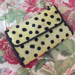 Anthropologie Wallet Polka-Dot CALF-HAIR  $98 new